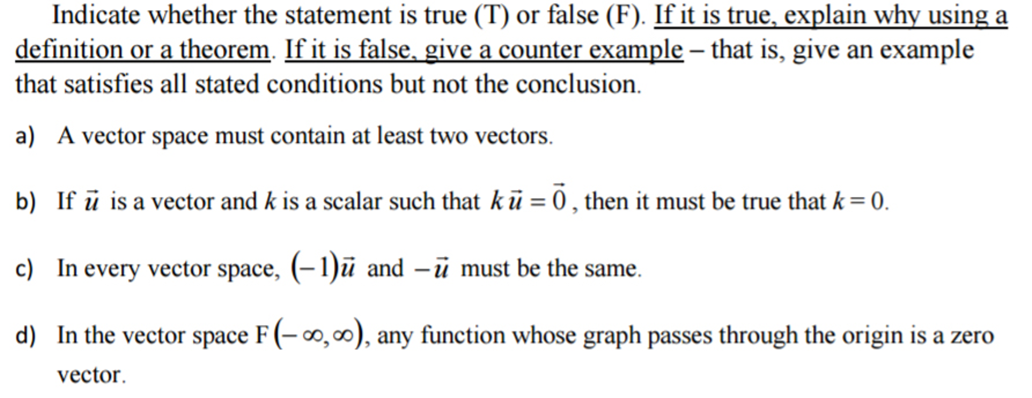 solved: indicate whether the statement is true (t) or fals