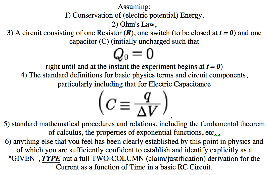 Solved: Assuming: Conservation Of (electric Potential) Ene ...