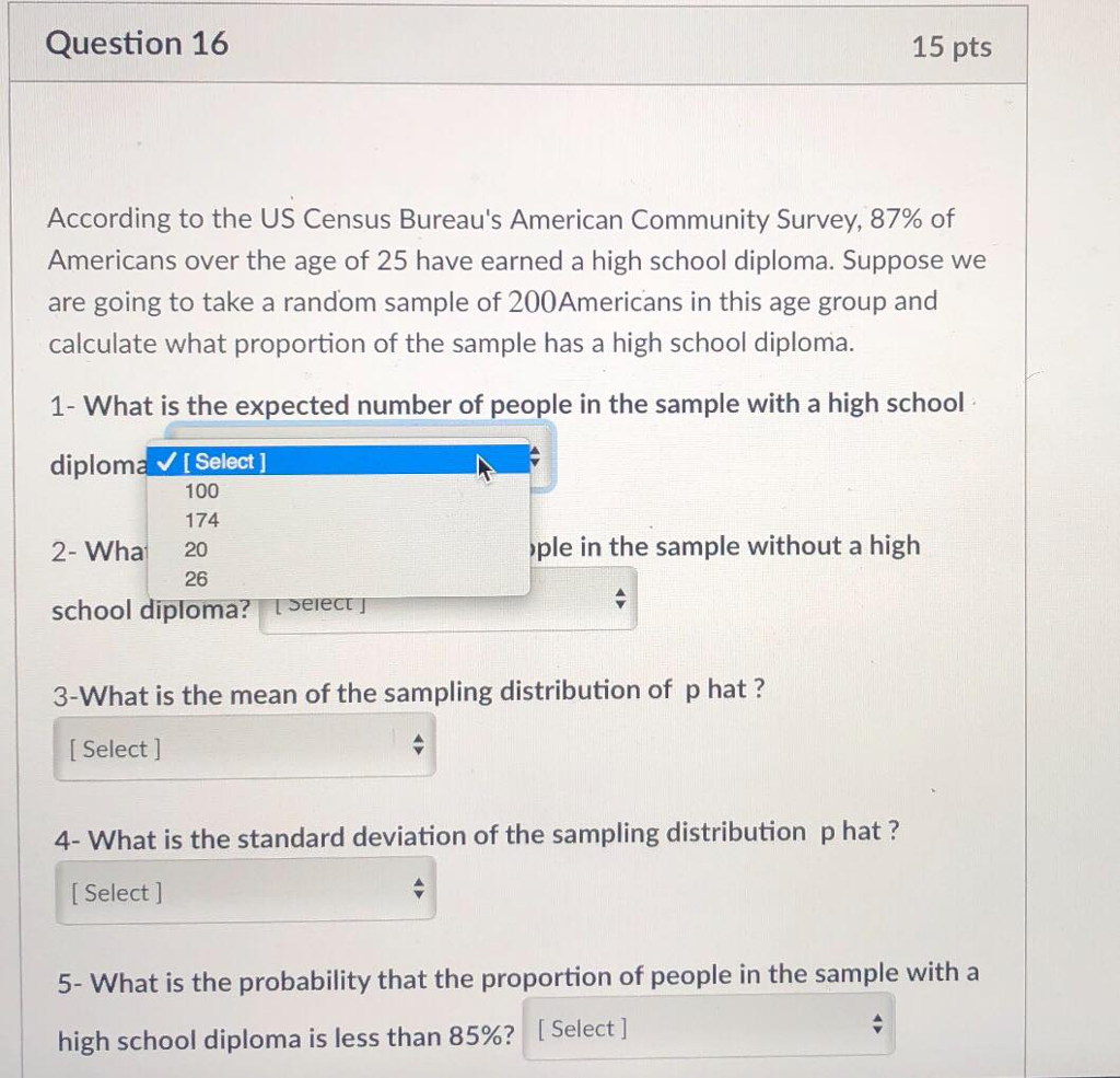 Question 16 15 Pts According To The US Census Bureaus American Community Survey 87