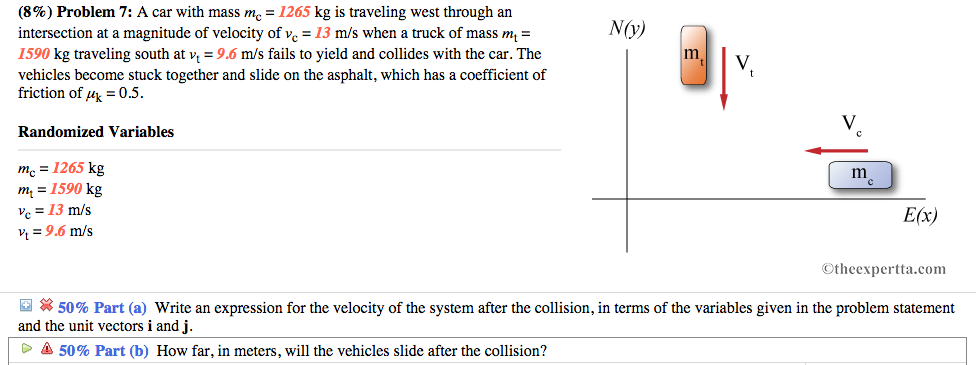 Solved Problem 7 A Car With Mass 1265 Kg Is Traveling