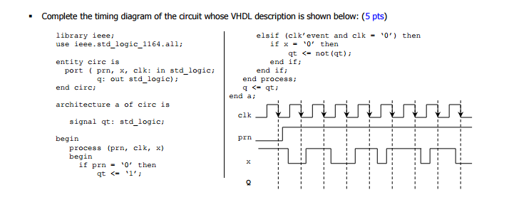 Solved complete the timing diagram of the dircuit whose v complete the timing diagram of the dircuit whose vhdl description is shown below 5 ccuart Images