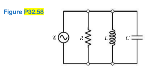 Solved consider the parallel rlc circuit shown in fig p3 consider the parallel rlc circuit shown in fig p3258 a draw a phasor diagram for this circuit this will be different than the phasor for a series ccuart Image collections