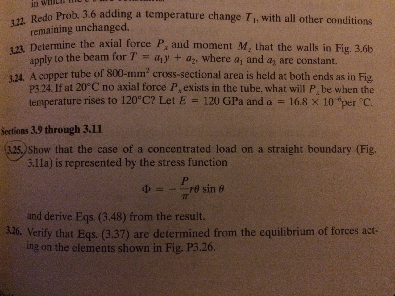 Q 25 from the book( advanced mechanics of materials and applied elasticity  (5th edition))