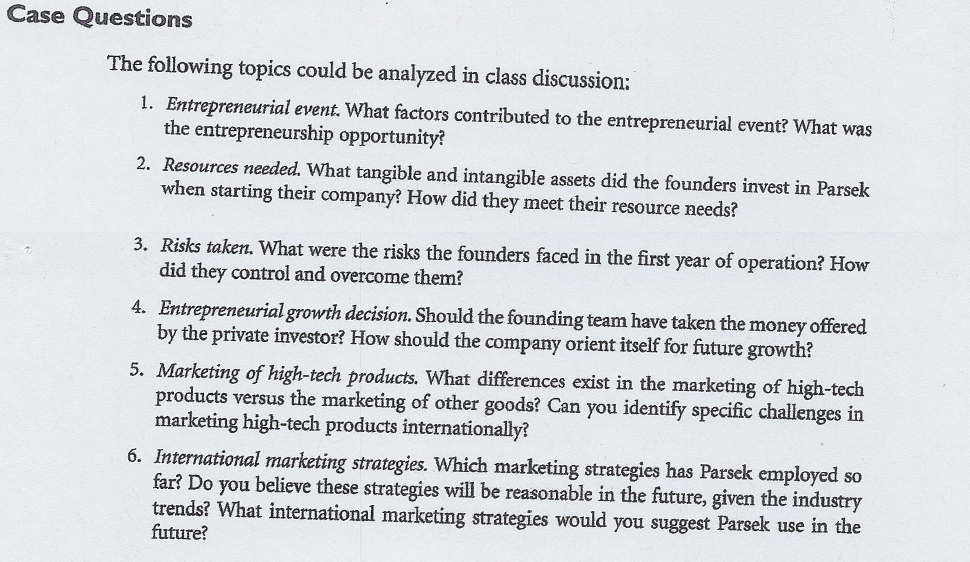 Hello, This Is A Case Study From The The Book: Int