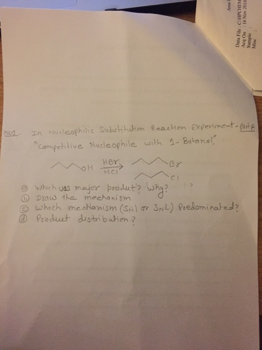 nucleophilic substitution reactions competing nucleophiles
