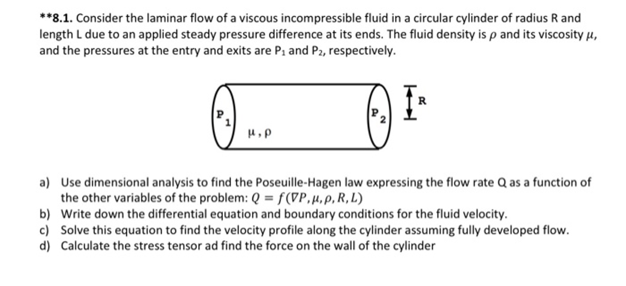 How to Solve for Laminar Flow in a Frictionless Cylindrical Pipe recommend