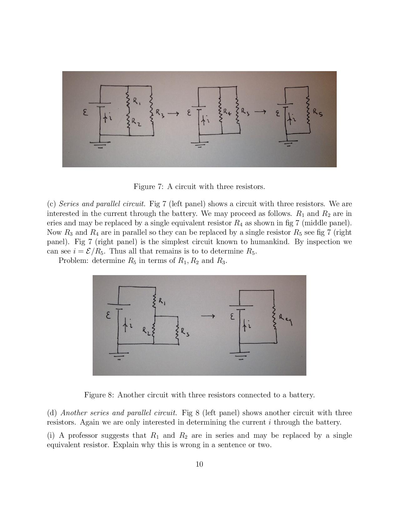 Solved 3 Dc Circuits Symbo Ou N Figure 5 Two Resistors Series Circuit Please Provide Full Answer