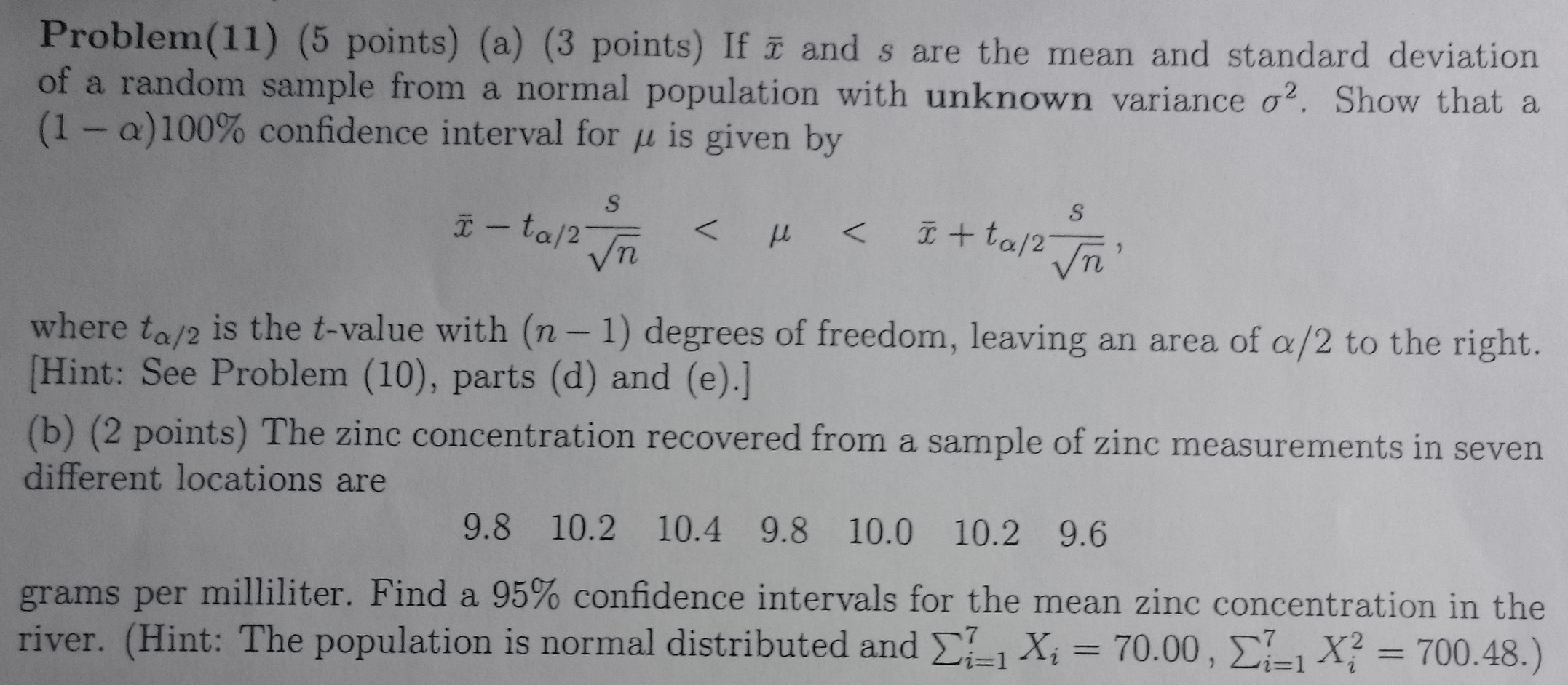If X And S Are The Mean And Standard Deviation Of A Random Sample Form A