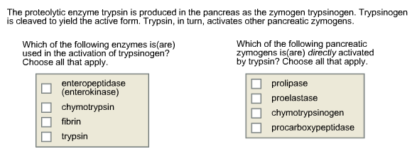 Solved: The Proteolytic Enzyme Trypsin Is Produced In The ...