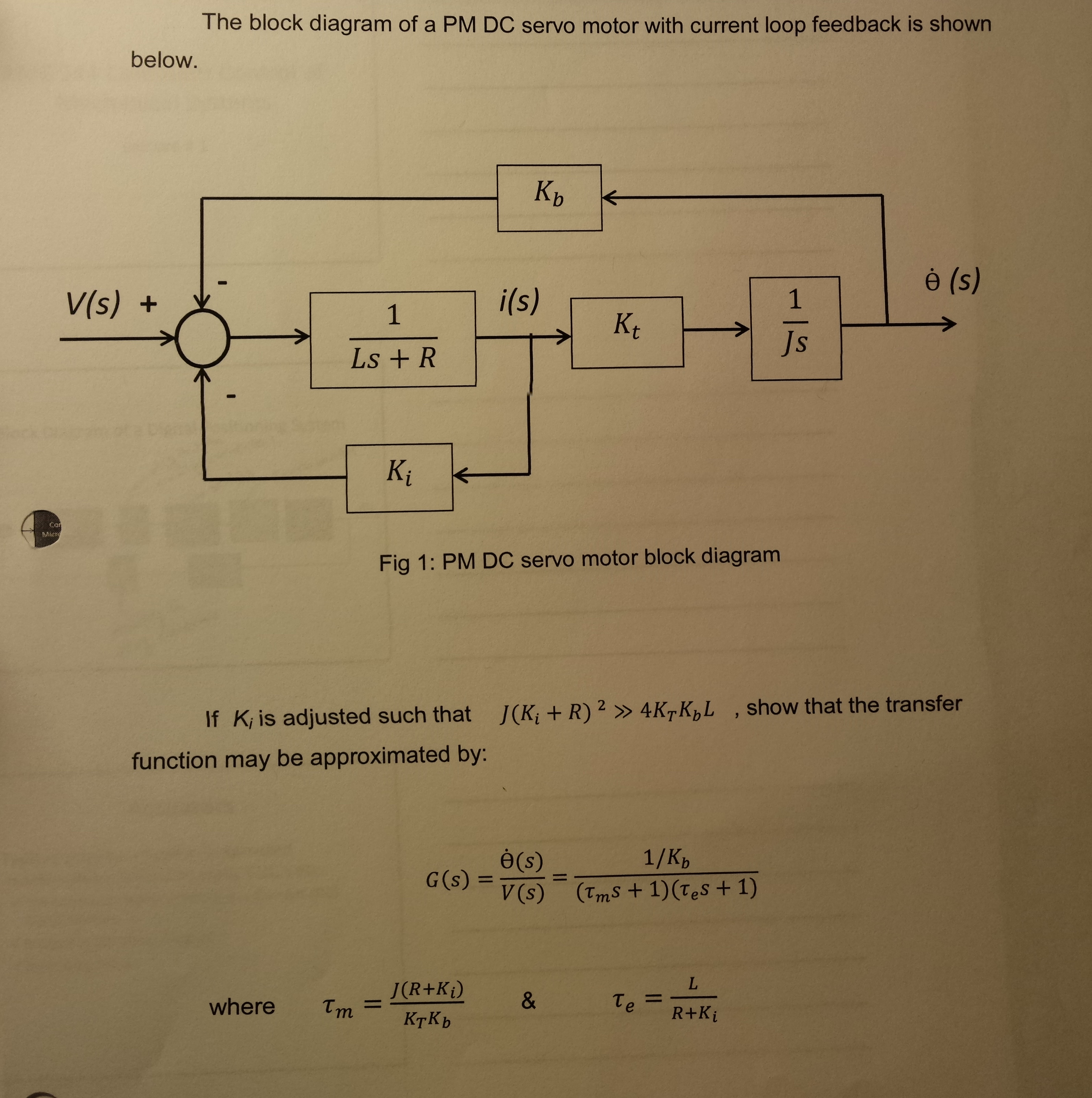 diagram math solver solved the block    diagram    of a pm dc servo motor with curr  solved the block    diagram    of a pm dc servo motor with curr