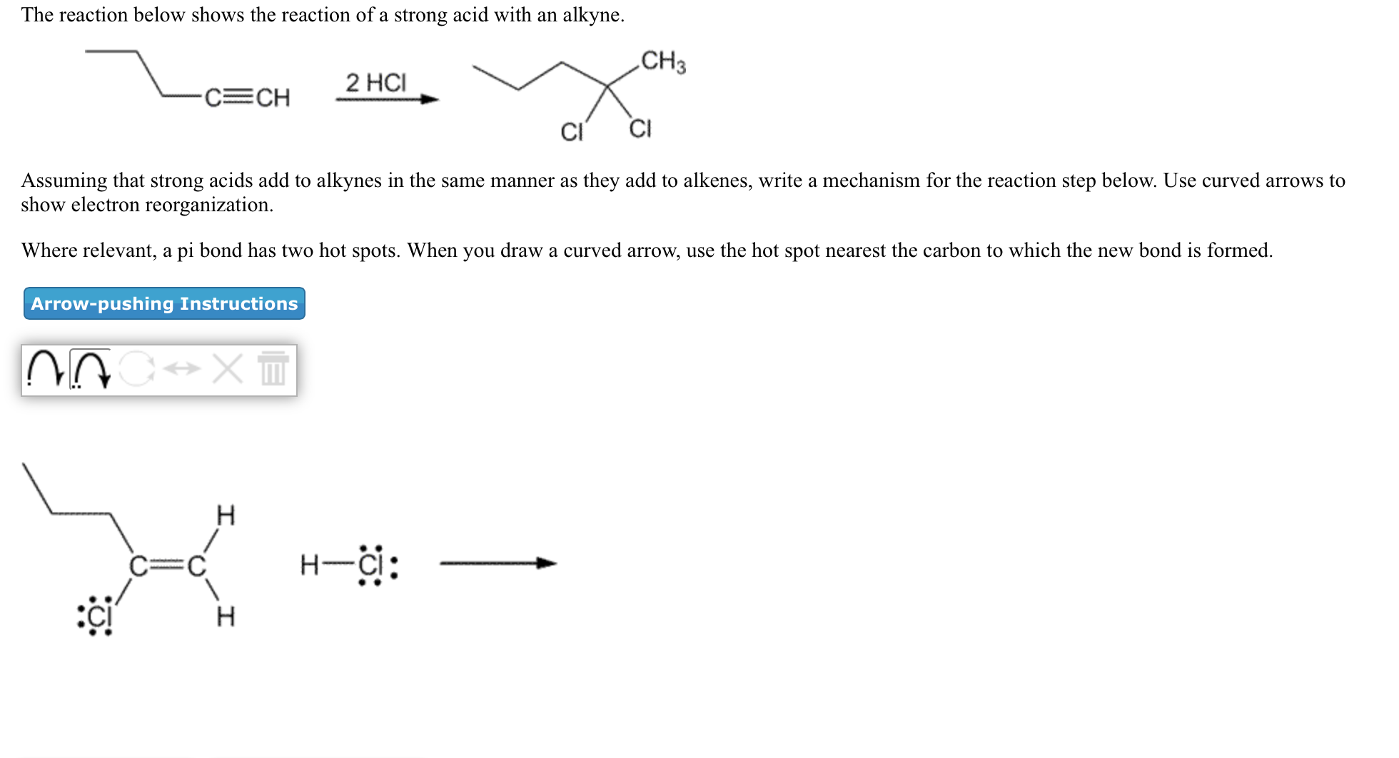 792e87517f Solved  Assuming That Strong Acids Add To Alkynes In The S ...