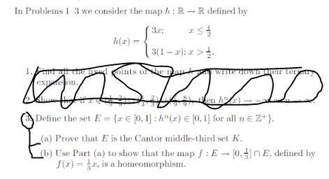 Solved: We Consider The Map H: R Rightarrow R Defined By H ... on
