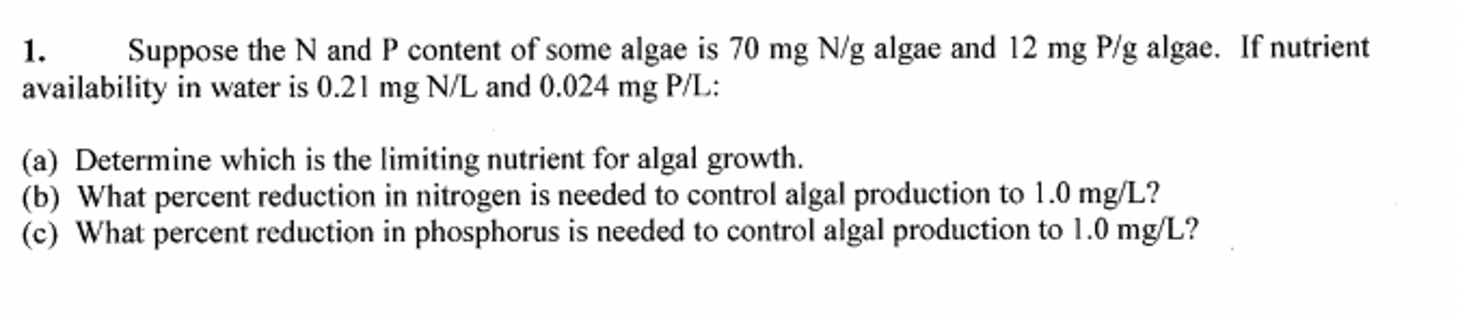 Chemistry archive november 08 2016 chegg suppose the n and p content of some algae is 70 mg altavistaventures Choice Image