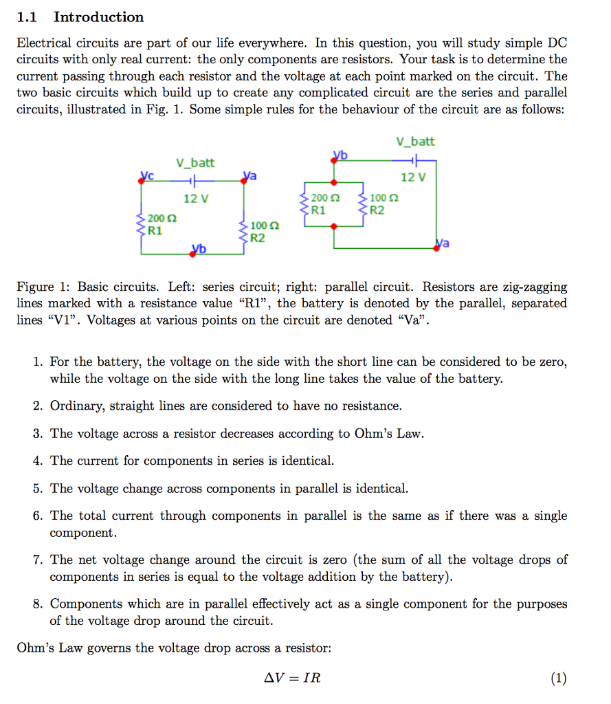 Solved: 1.1 Introduction Electrical Circuits Are Part Of O ...