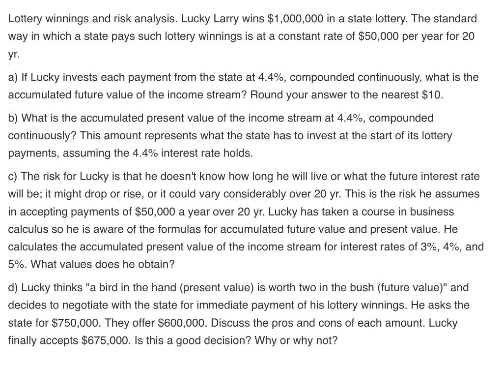 lottery analysis