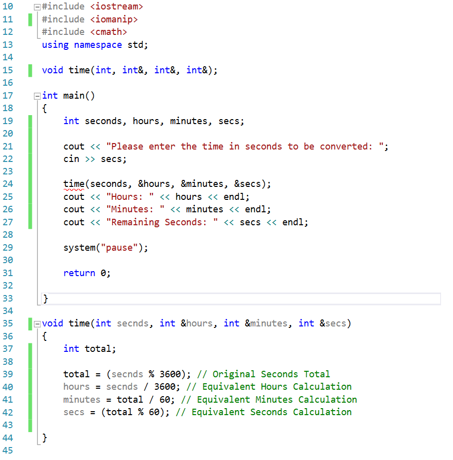 Solved: Write A C++ Function Named Time() That Has An Inte ...