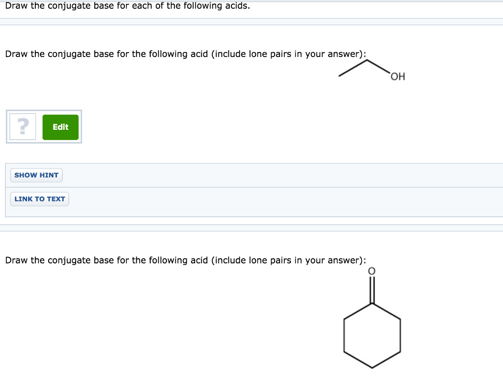 how to find a conjugate base of