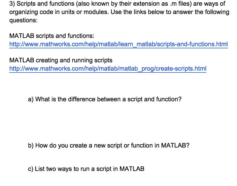 Solved: Scripts And Functions (also Known By Their Extensi ...