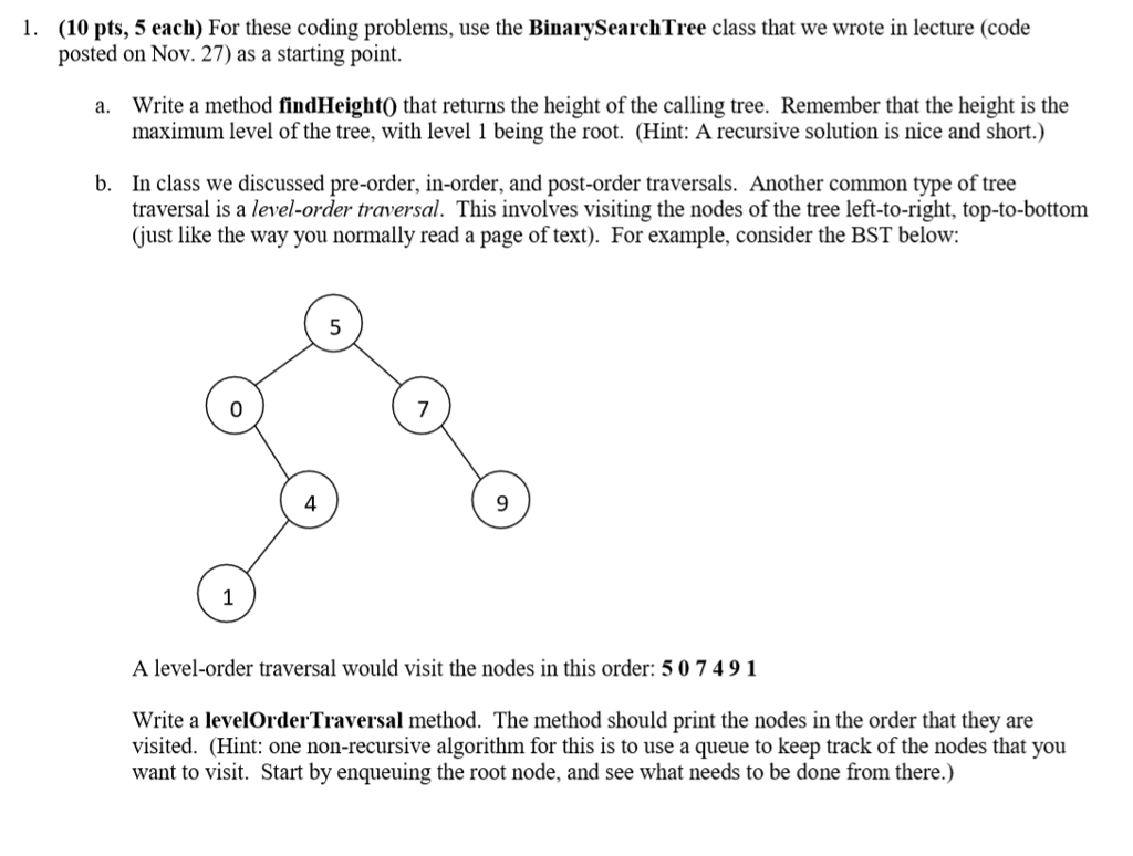 Solved: (10 Pts, 5 Each) For These Coding Problems, Use Th