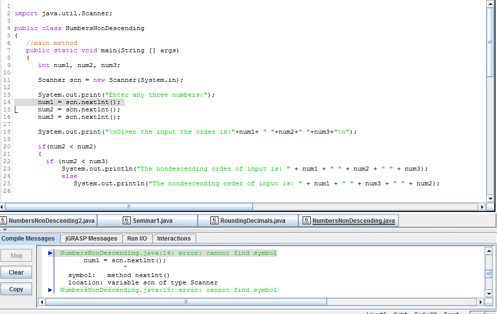 Solved Using Jgrasp Write A Program That Prompts The User