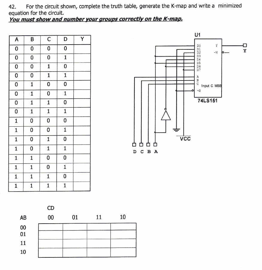 Solved: For The Circuit Shown, Complete The Truth Table, G