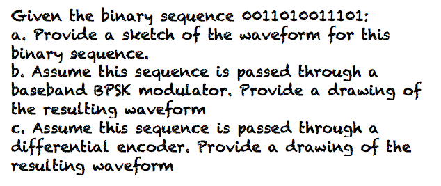 Solved: Given The Binary Sequence 0011010011101: Provide A