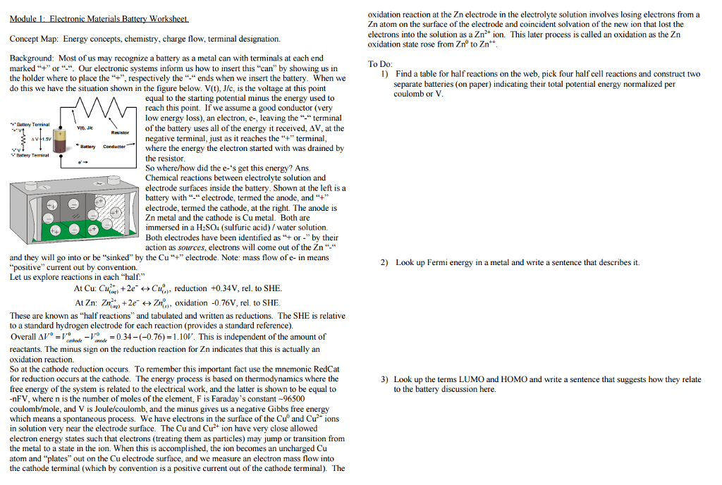 Solved: Concept Map: Energy Concepts, Chemistry, Charge Fl ...