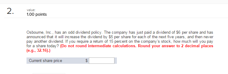 dividend policy questions and answers pdf