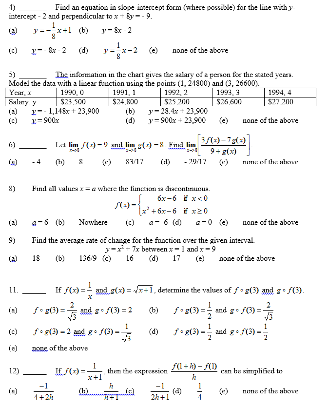 Solved Find An Equation In Slope Intercept Form Where Po