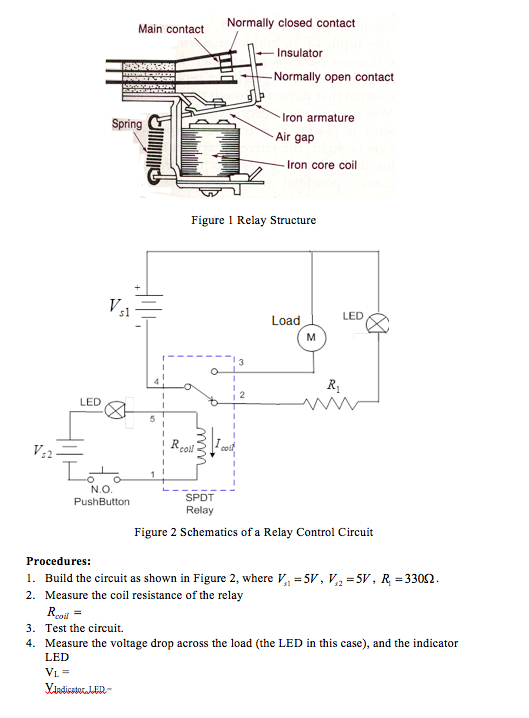 Solved: IET 291 Applied Electronics Lab 8 Relay Control Ci ...
