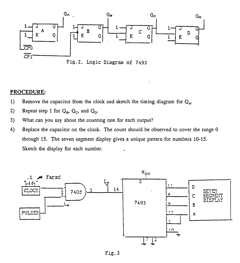 logic diagram 7493 solved procedure 1  remove the capacitor from the clock  remove the capacitor from the clock