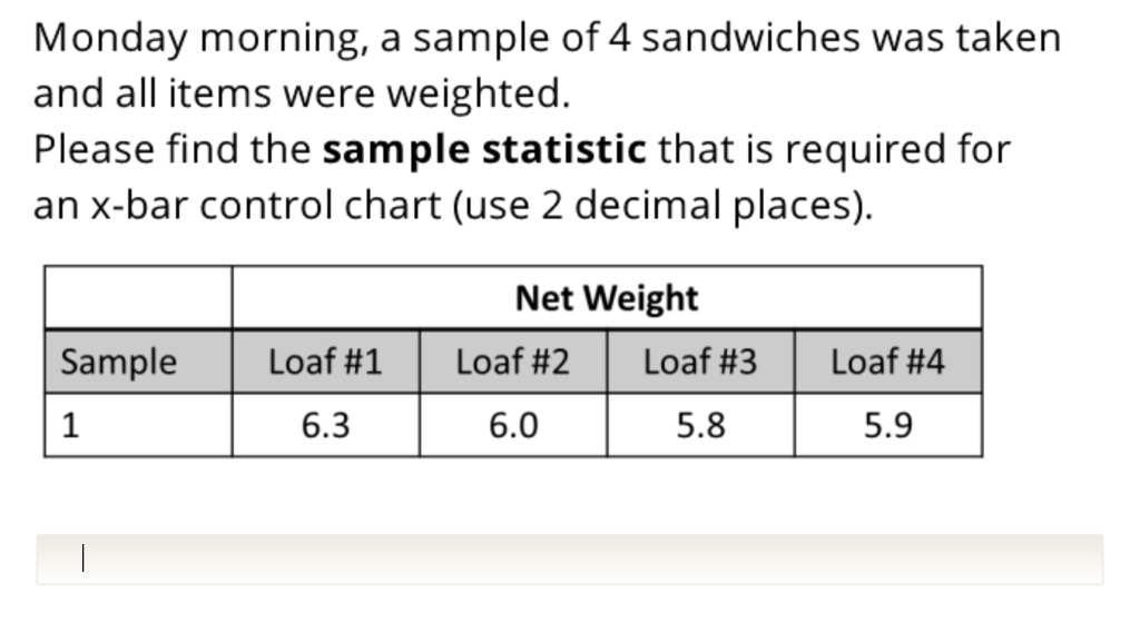 Solved: Monday Morning, A Sample Of 4 Sandwiches Was Taken