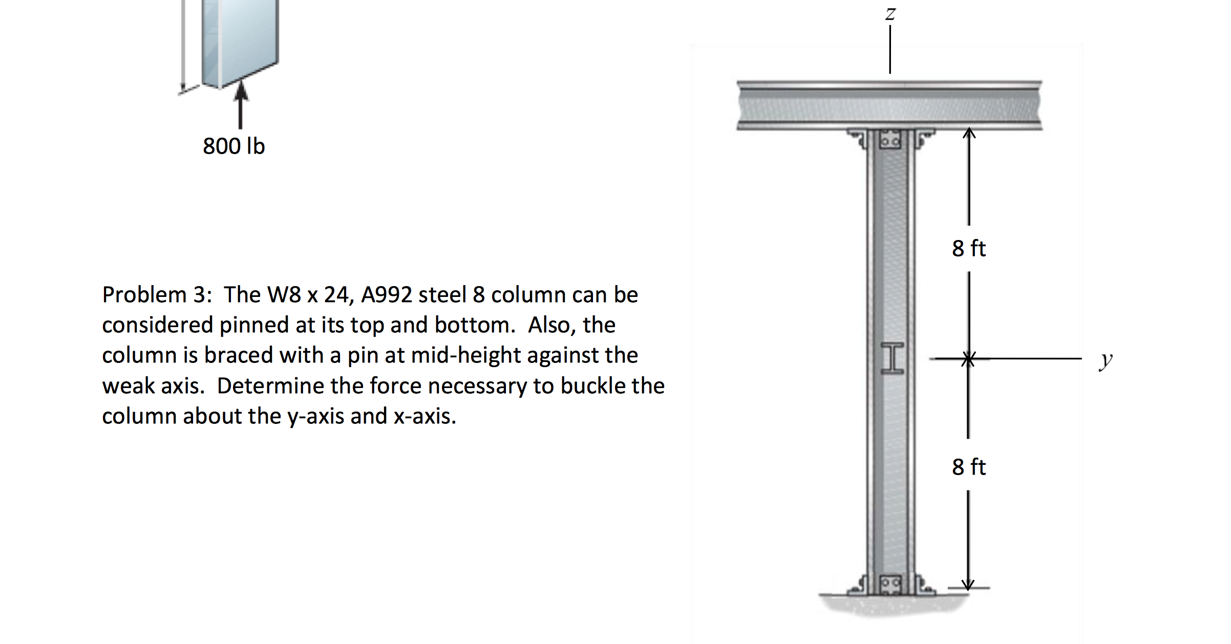 the w8 x 24 a992 steel 8 column can be considered chegg com