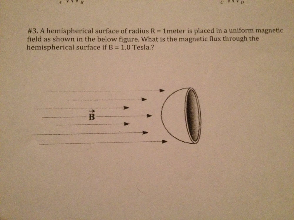 Solved: A Hemispherical Surface Of Radius R = 1 Meter Is P