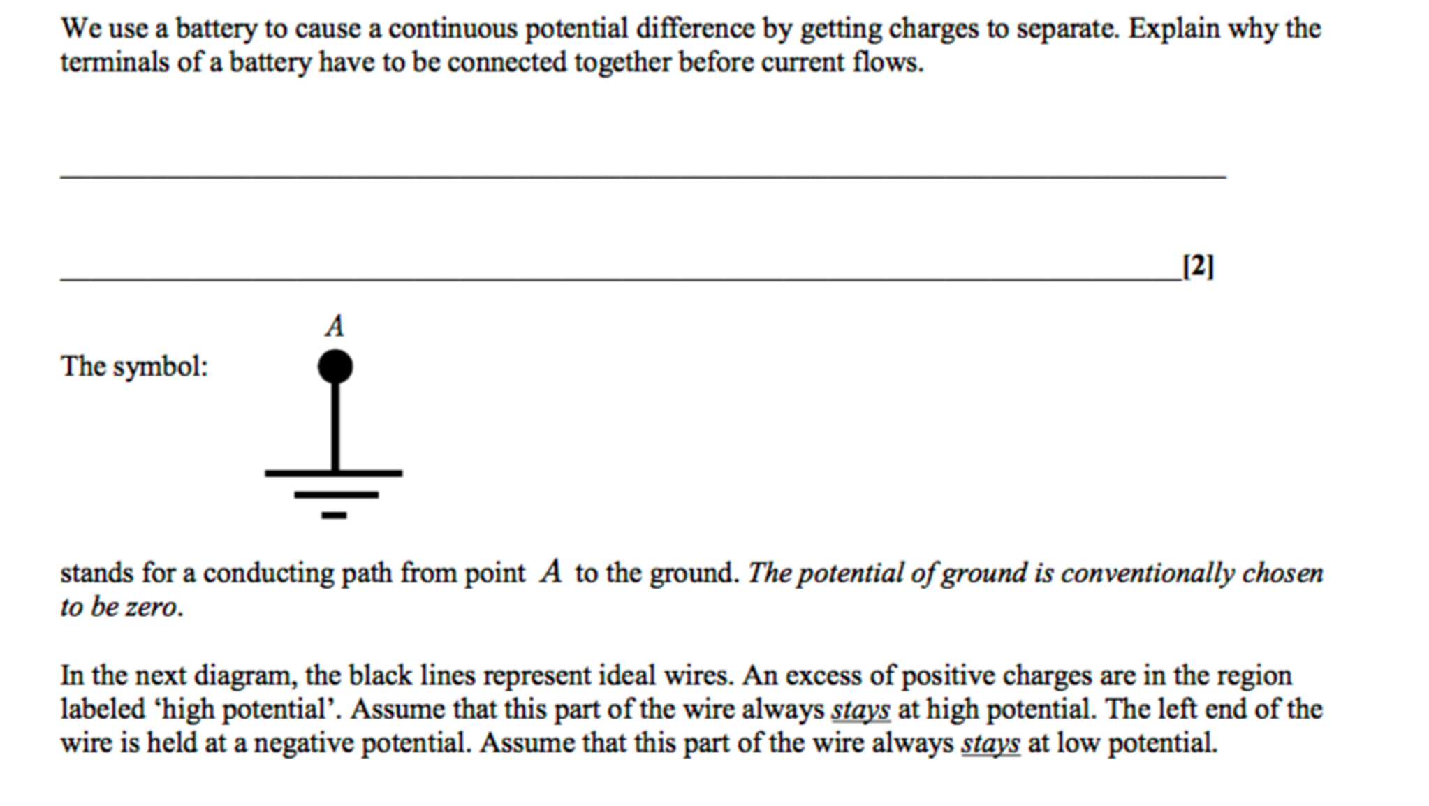 Solved: In The Following Diagram, The Black Lines Represen ...
