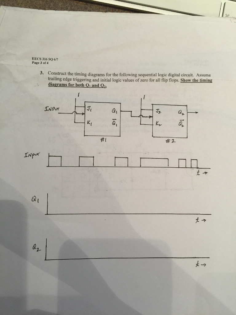 Solved Construct The Timing Diagrams For Following Se A Logic Circuit Diagram