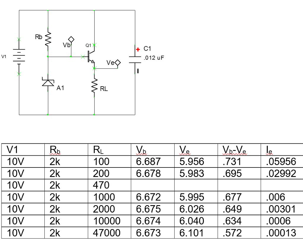 Solved The 1n4736 Zener Diode Should Have An Expected Bre Tester Breakdown Of 68 V Base Emitter Junction A Exhibit Typical Forward Voltage Drop 07