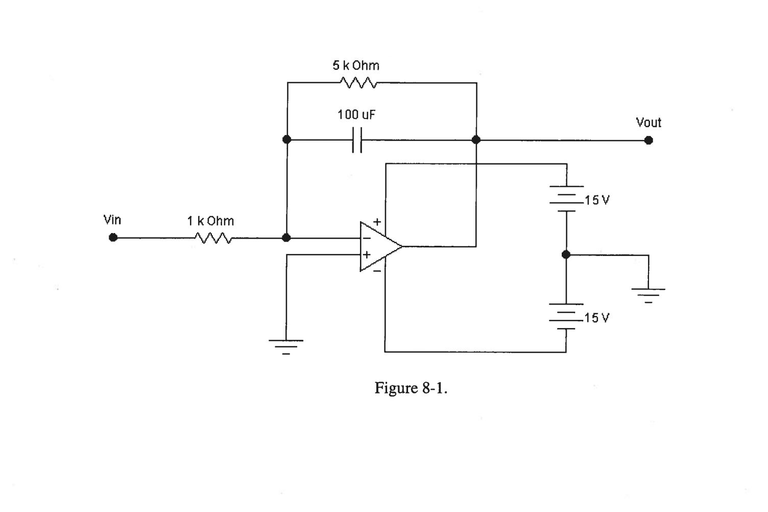 Solved Consider The Circuit As An Op Amp Integrator Use Rc See More Show Transcribed Image Text Ideal Model And Kcl To That Vout 1 R1c