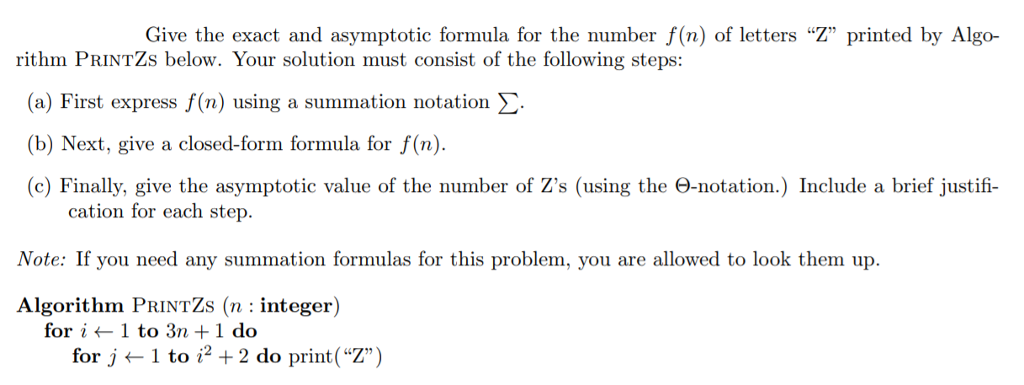 Give The Exact And Asymptotic Formula For The Numb... | Chegg.com