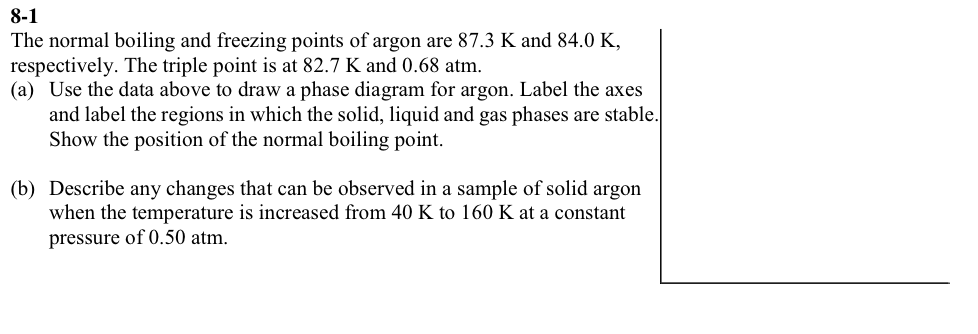 Solved The Normal Boiling And Freezing Points Of Argon Ar
