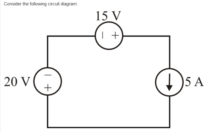 solved hello, i am having trouble with the arbitrarity of simple circuit consider the following circuit diagram 15 v 20 v 5 a