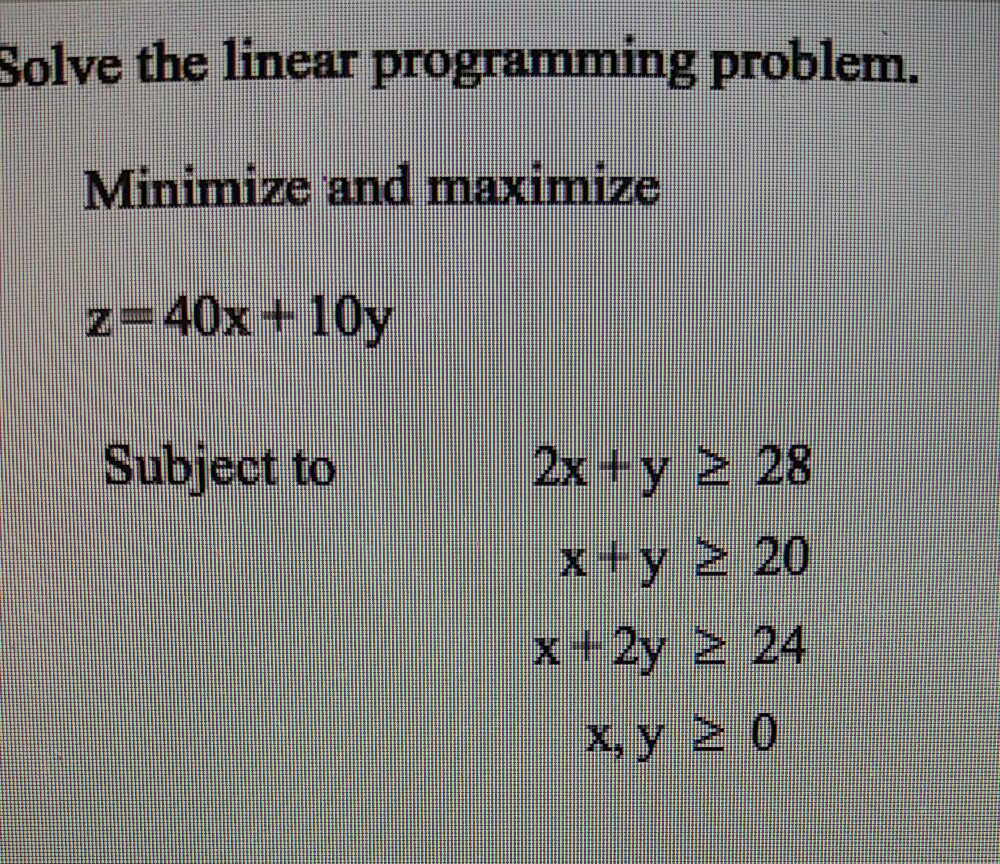 How to Solve Linear Programming Problems on the TI-84 Plus