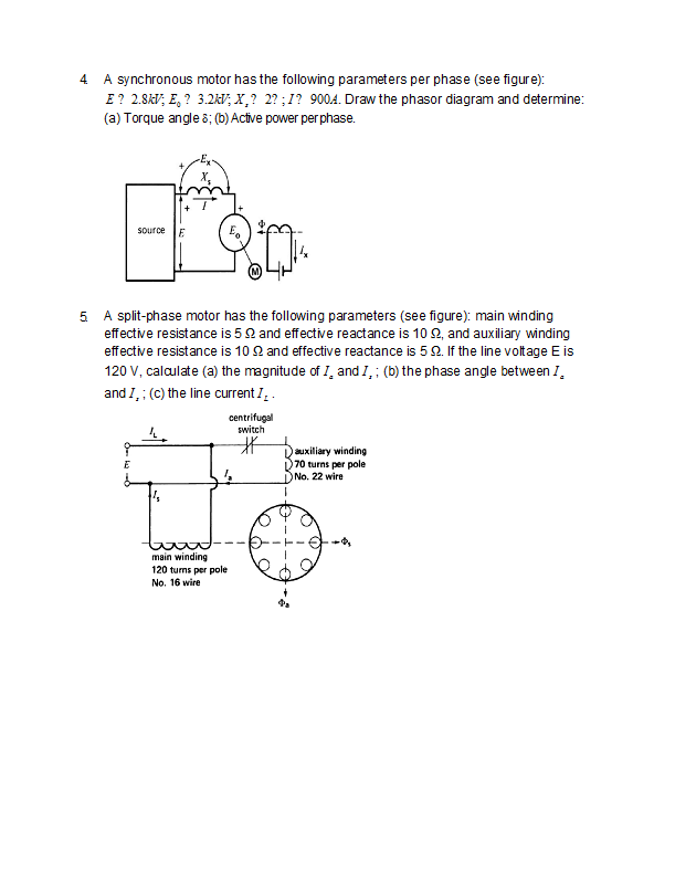 Remarkable Solved A Synchronous Motor Has The Following Parameters P Wiring 101 Eattedownsetwise Assnl