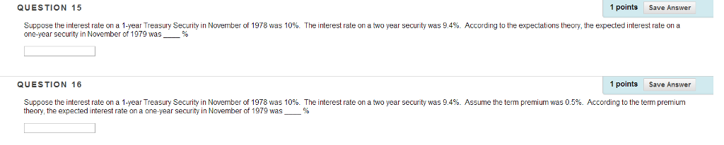 Economics archive february 12 2017 chegg question 15 1 points save answer suppose the interest rate on a 1 year treasury fandeluxe Choice Image