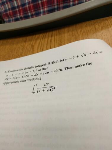Evaluate the definite integral. integral^1_0 dx/(