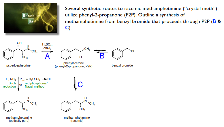 Solved: Several Synthetic Routes To Racemic Methamphetamin