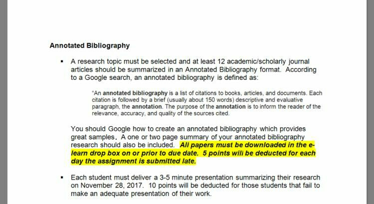 how to write an evaluative annotated bibliography