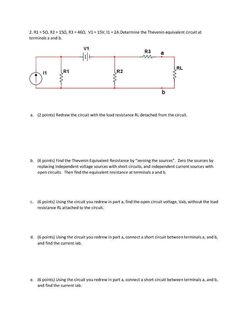 Solved R1 5 R2 15 R3 46 V1 15v I1 2adet Find Equivalent Resistance Rt Of Given Circuit Cheggcom 2 50 150 460 2a