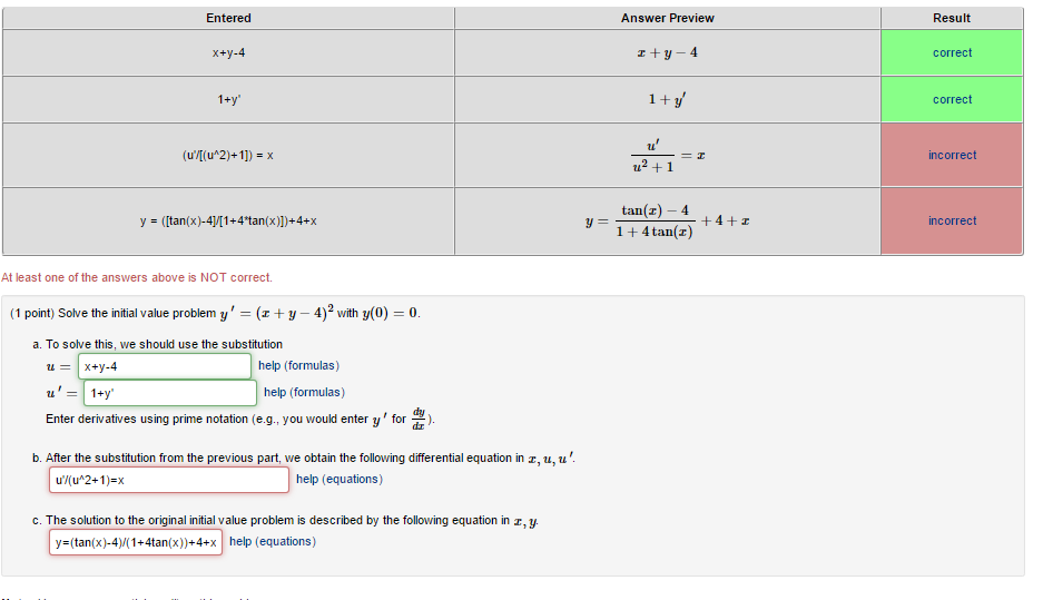how to solve a substitution problem