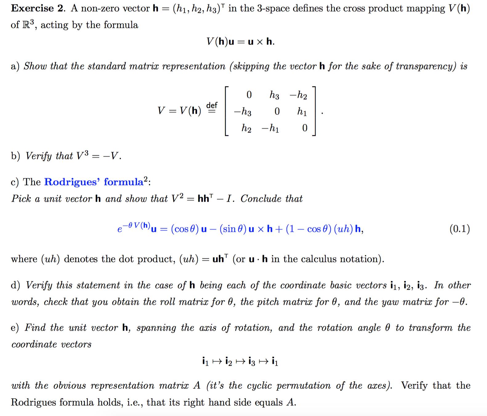 A Non-zero Vector H = (h_1, H_2, H_3)^T In The 3-s    | Chegg com